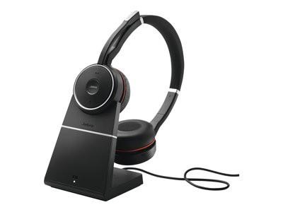 Jabra - Evolve 75 MS Stereo - Headset - mit Ladestation